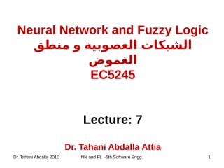 Neural Network and Fuzzy logic(lec7).ppt