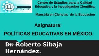 Presentación Asignatura Calidad educativa CECEIC.ppt