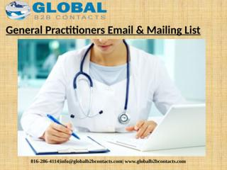General Practitioners Email & Mailing List.pptx