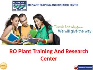 RO Plant Training And Research Center.pptx