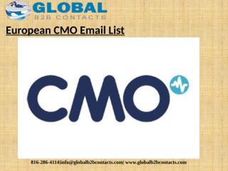 European CMO Email List.pptx