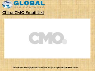 China CMO Email List.pptx