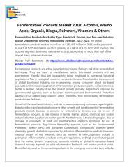 Fermentation Products Market 2018.pdf