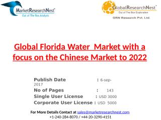 Global Florida Water  Market with a focus on the Chinese Market to 2022.pptx
