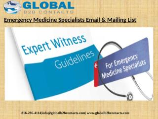 Emergency Medicine Specialists Email & Mailing List.pptx