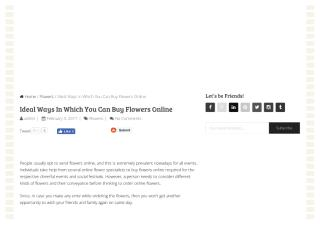 Perfect ways in which you can buy flowers online.pdf