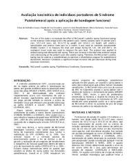 Avaliação isocinética de indivíduos portadores de Síndrome Patelofemoral após a aplicação de bandagem funcional.pdf