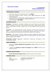 Profile Of Manoj Kumar Reddy - SAP BI TM.doc