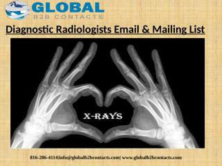 Diagnostic Radiologists Email & Mailing List.pptx