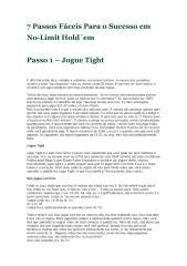 Poker - 7 Passos Fáceis Para o sucesso em No-Limit Hold'em.pdf