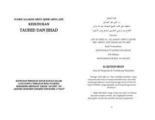 syaikh abd.qodir bin abd.aziz - kedudukan tauhid & jihad.pdf