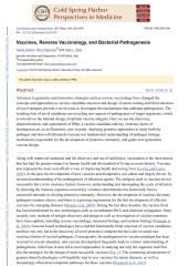 Vaccines, Reverse Vaccinology, and Bacterial Pathogenesis.pdf