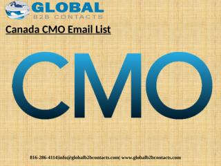 Canada CMO Email List.pptx