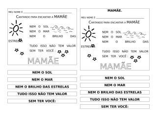 MÚSICA PARA MAMÃE.doc