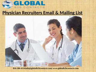 Physician Recruiters Email & Mailing List (1).pptx