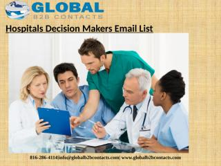 Hospitals Decision Makers Email List (1).pptx