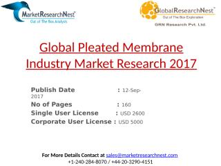 Global Pleated Membrane Industry Market Research 2017.pptx