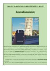 High-Speed Wireless Internet While Traveling Internationally.docx