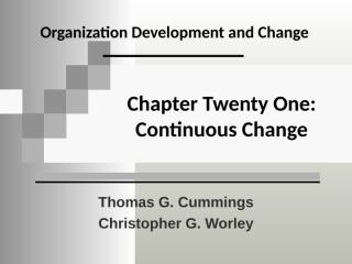 Organizationa development and change.ppt