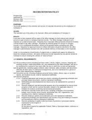 Record Retention Policy.doc