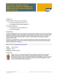 Optimized Supplier Spend Reporting with SAP NetWeaver MDM and SAP BusinessObjects Data Services.pdf