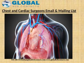 Chest and Cardiac Surgeons Email & Mailing List.pptx